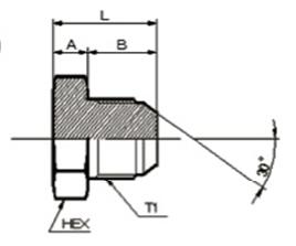 画像1: 1050M ミリネジ盲プラグ (コマツ用)各サイズ  (1)