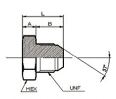 画像1: 1050UNF ユニファイネジ盲プラグ 各サイズ  (1)