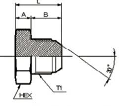 画像1: 1050 ガスネジ盲プラグ(オスシート) 各サイズ  (1)