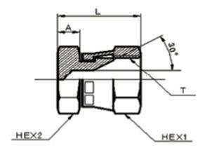 画像1: 1042 ガスネジ盲キャップ(メスシート) 各サイズ  (1)