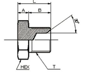 画像1: 1040 ガスネジ盲プラグ(メスシート) 各サイズ  (1)