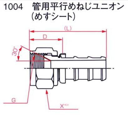 画像1: WS18Z専用ホース金具1004 サイズ-04 -06 -08 -12 (1)